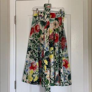 Beautiful Zara floral A-line skirt